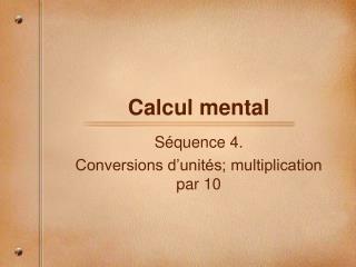 Calcul mental