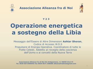 Operazione energetica a sostegno della Libia