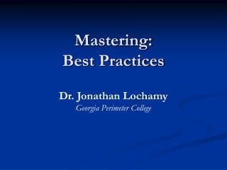 Mastering: Best Practices