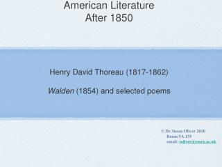 American Literature After 1850