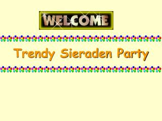 Trendy Sieraden Party