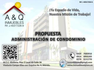 M.C.C. Giuliana. Piso 3 Local 35 Calle 26 Viaducto Campo Elías con Esquina Av. 4. Mérida.