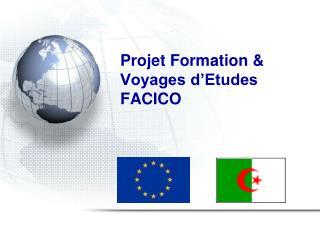 Projet Formation &  Voyages d'Etudes  FACICO
