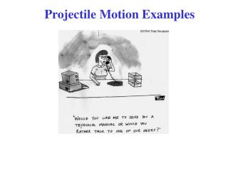Projectile Motion Examples