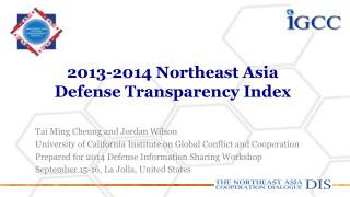 2013-2014 Northeast Asia Defense Transparency Index