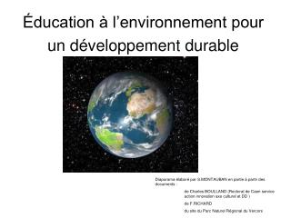Éducation à l'environnement pour un développement durable