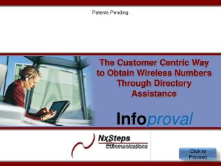 The Customer Centric Way to Obtain Wireless Numbers Through Directory Assistance  Info proval