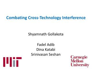 Combating Cross-Technology Interference