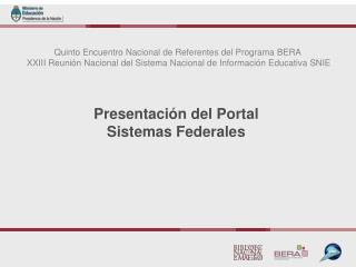 Quinto Encuentro Nacional de Referentes del Programa BERA