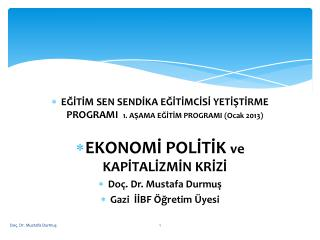 EĞİTİM SEN SENDİKA EĞİTİMCİSİ YETİŞTİRME PROGRAMI   1. AŞAMA EĞİTİM PROGRAMI (Ocak 2013)
