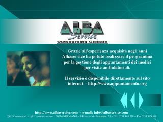albaservice -- e-mail: info@albaservice