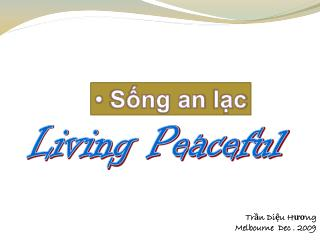 Living Peaceful