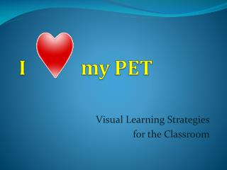 Visual Learning Strategies for the Classroom