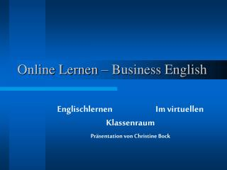 Online Lernen – Business English