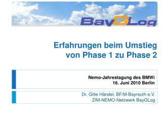Nemo-Jahrestagung des BMWi 16. Juni 2010 Berlin
