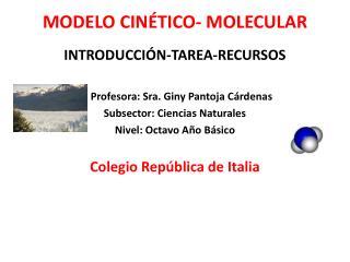 MODELO CINÉTICO- MOLECULAR