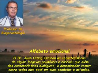 Profesor  de  Biogerontología