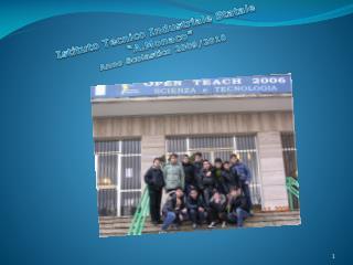Istituto Tecnico Industriale Statale  � A.Monaco � Anno Scolastico 2009/2010