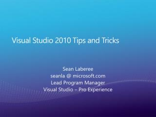 Visual Studio 2010 Tips and Tricks