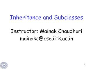 Inheritance and Subclasses
