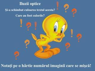 Iluzii optice Şi-a schimbat culoarea textul acesta? Care au fost culorile?