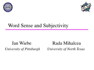 Word Sense and Subjectivity
