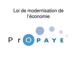 Loi de modernisation de l'économie