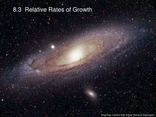8.3  Relative Rates of Growth
