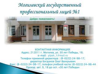 Могилевский государственный профессиональный лицей №1