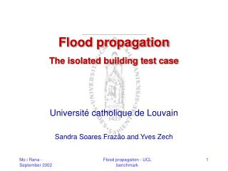 Flood propagation The isolated building test case