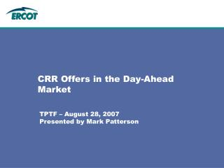 CRR Offers in the Day-Ahead Market