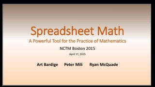 Table of Contents Chapter 4 The Art of Modeling with Spreadsheets