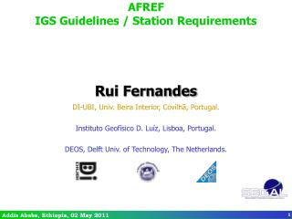 AFREF IGS Guidelines / Station Requirements