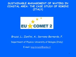 SUSTAINABLE MANAGEMENT OF WATERS IN COASTAL AREA: THE CASE STUDY OF RIMINI (ITALY)