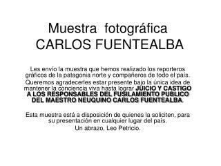 Muestra  fotográfica   CARLOS FUENTEALBA