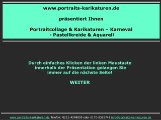 portraits-karikaturen.de präsentiert Ihnen Portraitcollage & Karikaturen – Karneval