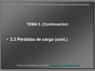 TEMA 3. (Continuación)