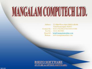BSEFO SOFTWARE (FUTURE & OPTION  SOFTWARE )