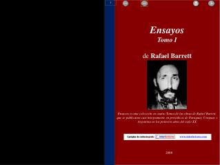 Ensayos Tomo I de  Rafael Barrett