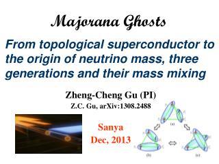 Zheng- C heng Gu ( PI) Z.C. Gu, arXiv:1308.2488 Sanya Dec, 2013