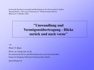 Institut für Rechtswissenschaft und Rechtspraxis der Universität St. Gallen