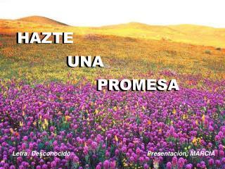 HAZTE           UNA                 PROMESA