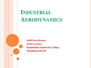 Industrial Aerodynamics