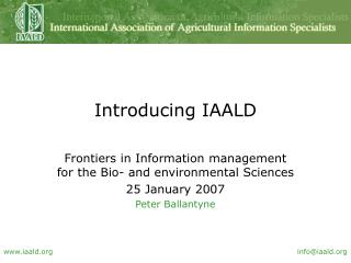 Introducing IAALD