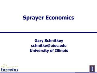 Sprayer Economics