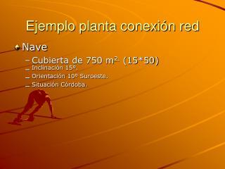 Ejemplo planta conexión red
