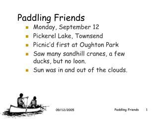 Paddling Friends