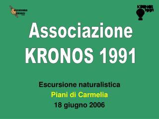 Escursione naturalistica Piani di Carmelia 18 giugno 2006