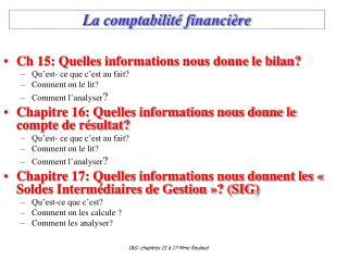 La comptabilité financière