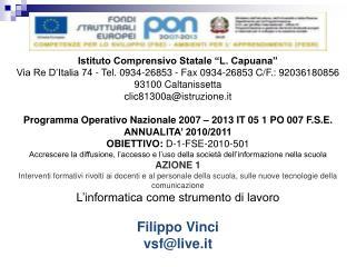"""Istituto Comprensivo Statale """"L. Capuana"""""""